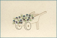 Flower Barrow Stitched Card