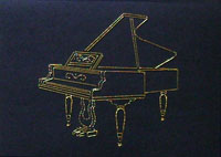 Grand Piano Stitched Card