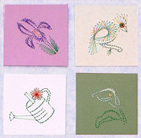 In the Garden #2  Stitched Gift Tags