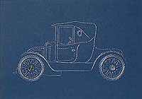 Vintage Car #2 Stitched Card