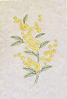 Wattle Stitched Card