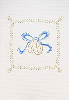Ring Pillow Stitched Card